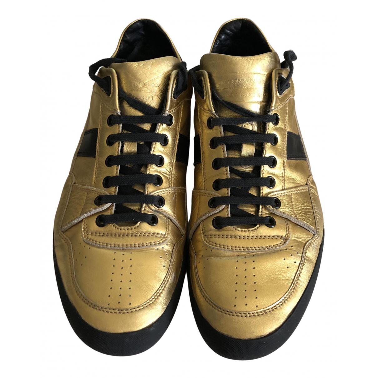Dior Homme \N Sneakers in  Gold Leder