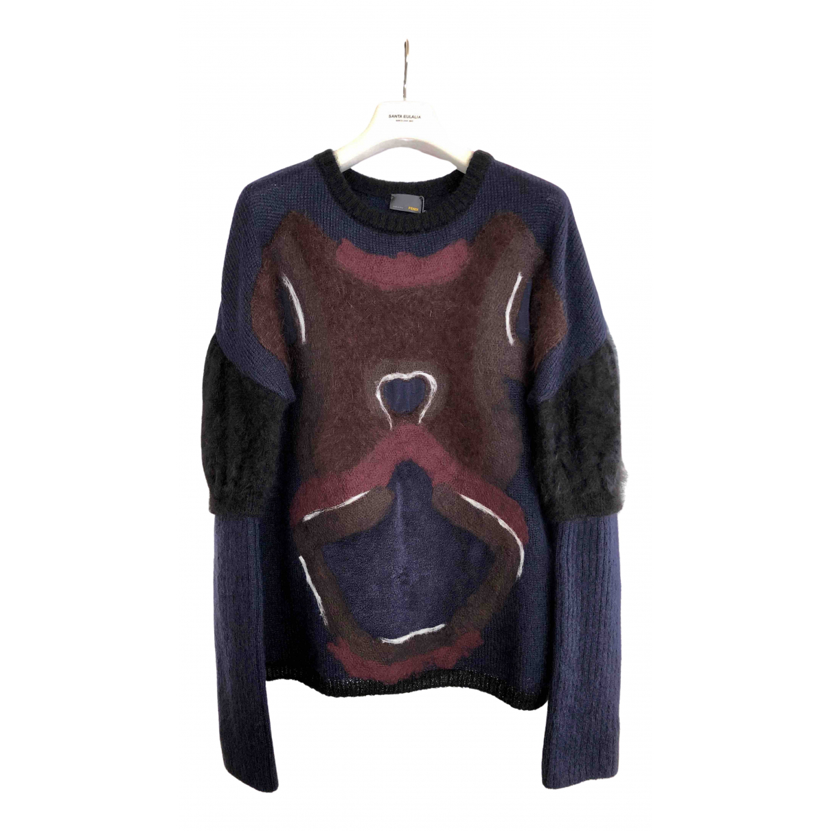 Fendi - Pull   pour femme en laine - multicolore