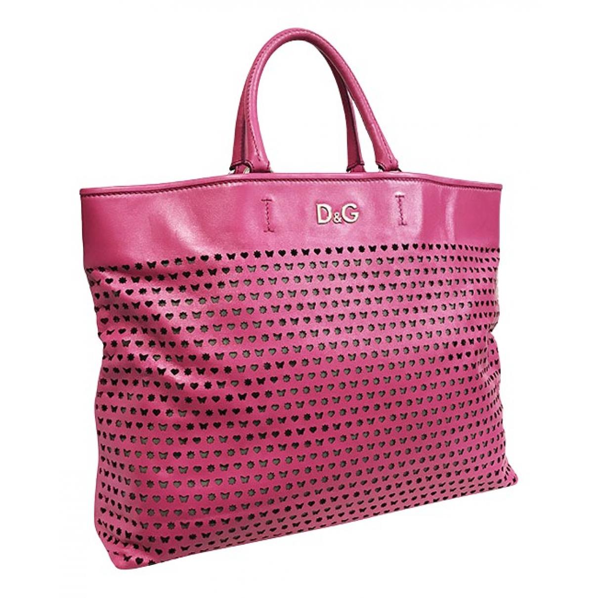 Dolce & Gabbana \N Pink Leather handbag for Women \N