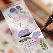 10 Blaetter Aufkleber mit zufaelligem Blumen Muster