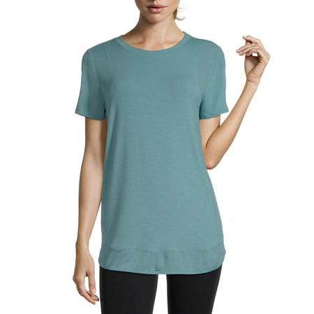 Xersion Womens Round Neck Short Sleeve T-Shirt, X-small , Blue