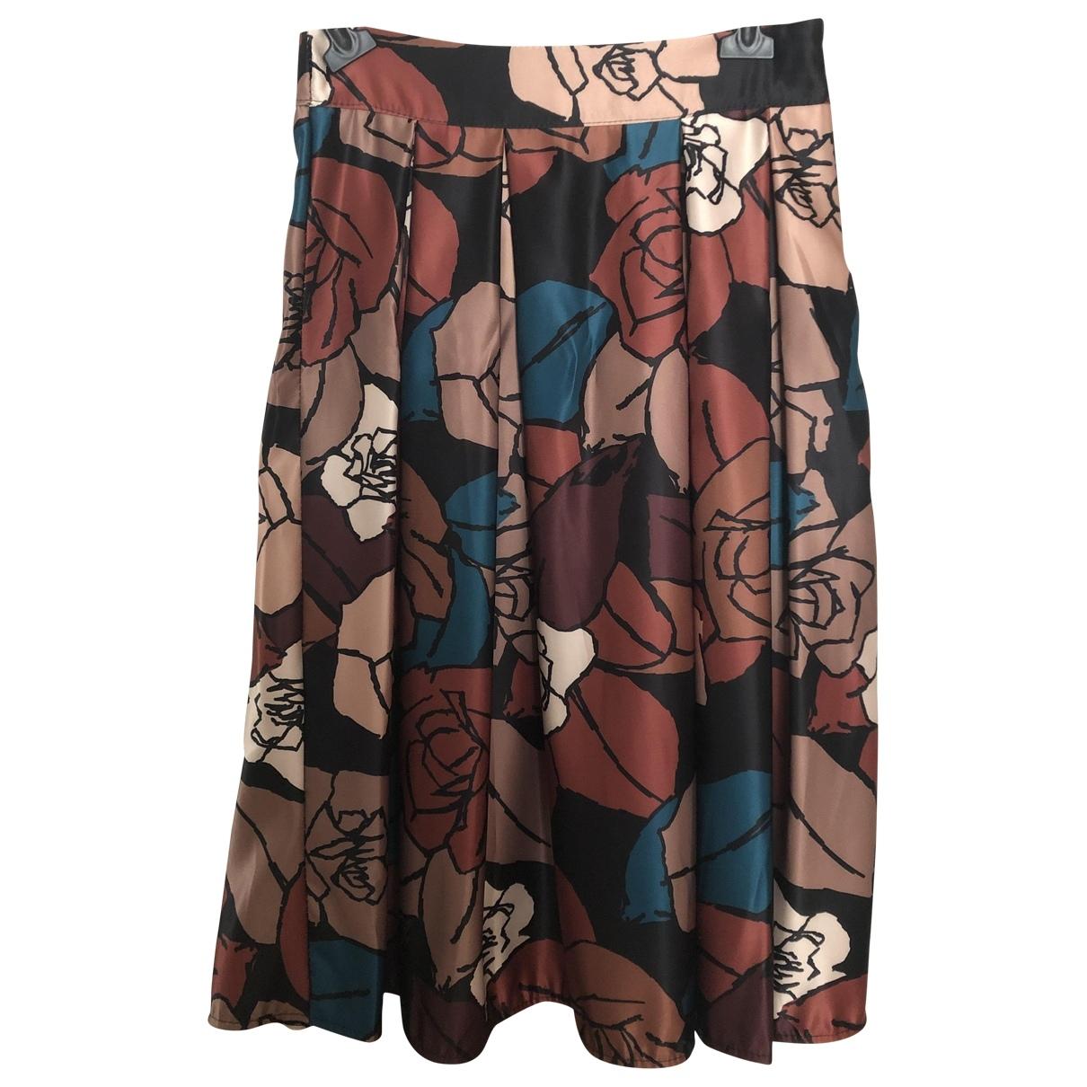 Non Signé / Unsigned Oversize Brown skirt for Women M International