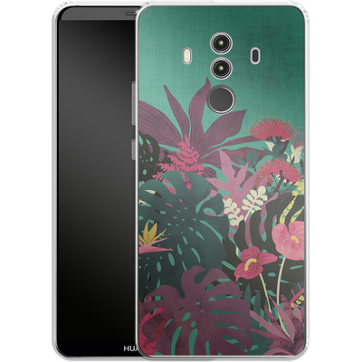 Huawei Mate 10 Pro Silikon Handyhuelle - Tropical Tendencies von Little Clyde