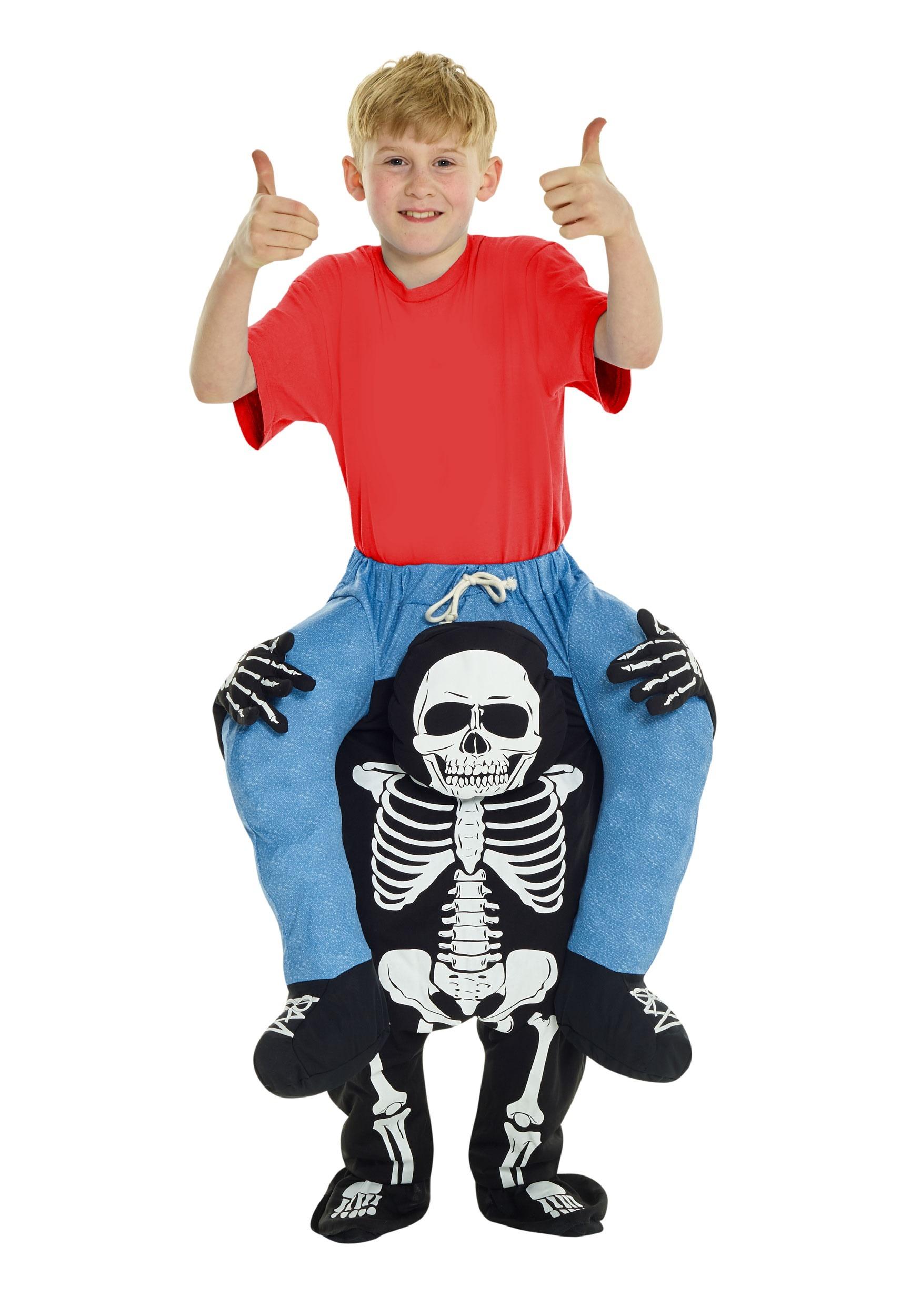 Skeleton Piggyback Costume for Kids