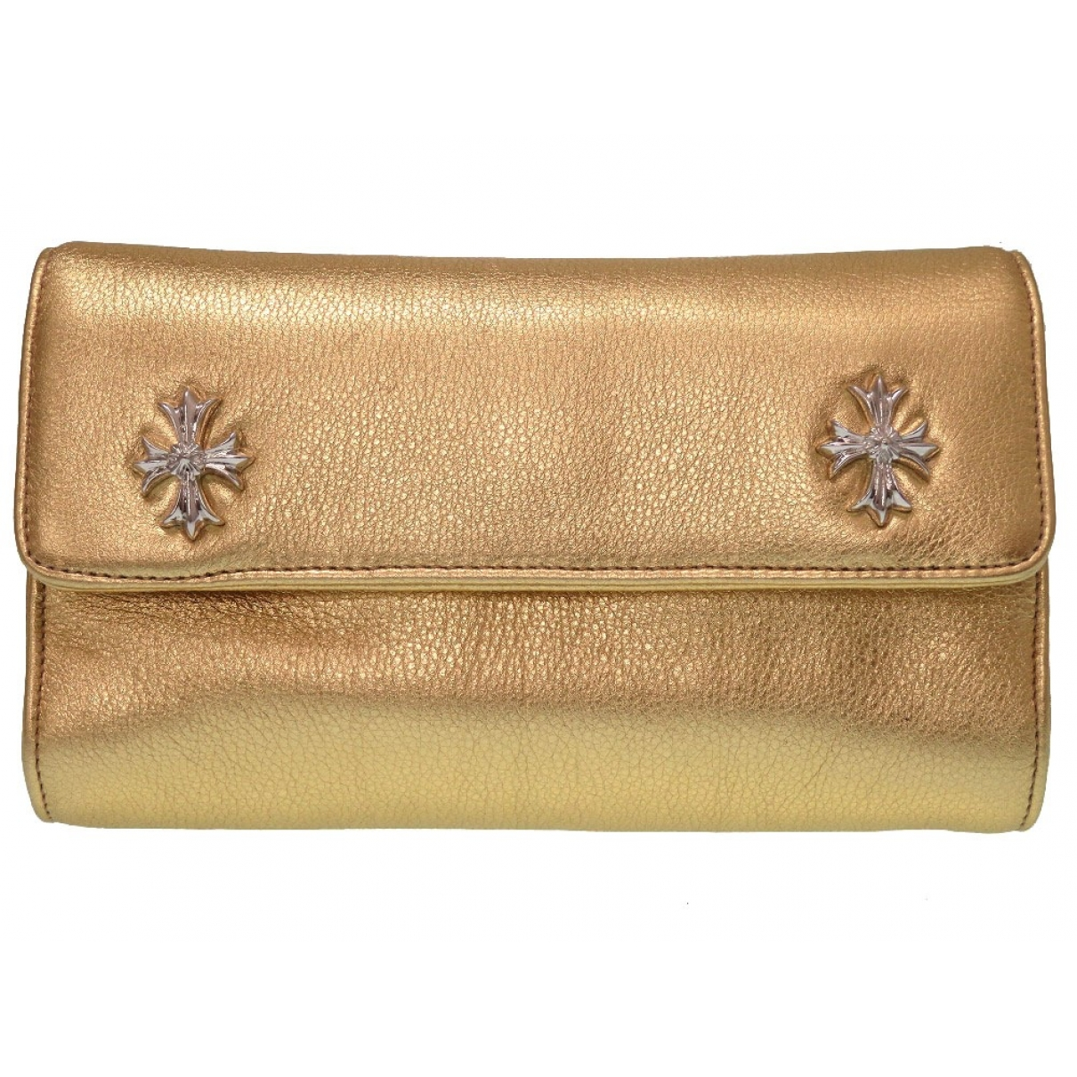 Chrome Hearts \N Gold Leather Clutch bag for Women \N