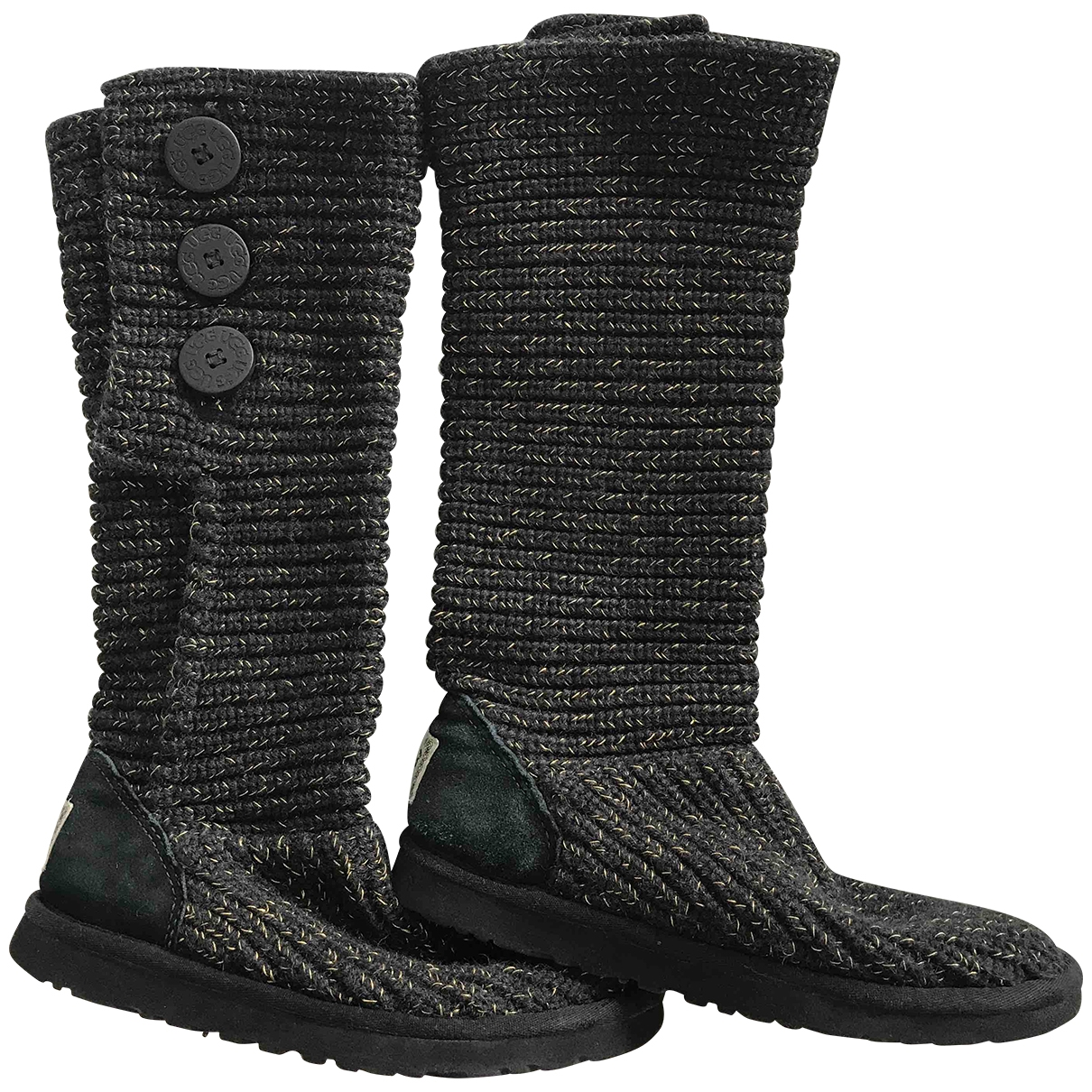 Ugg - Bottes   pour femme en toile - noir