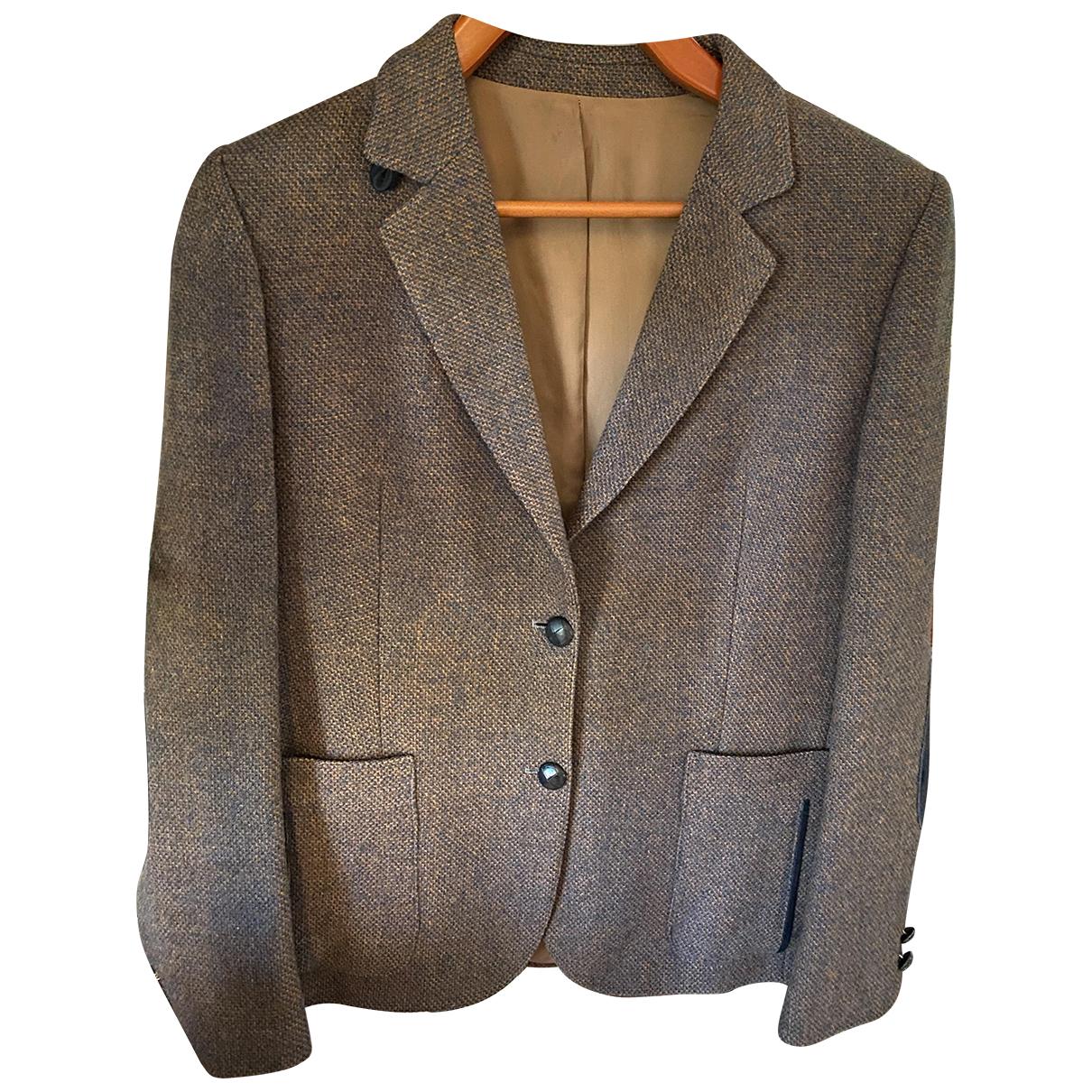 Burberry - Veste   pour femme en laine - multicolore