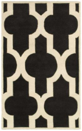 VOLVO818600160305 Volare VO8186-3' x 5' Hand-Tufted 100% Wool Rug in Charcoal  Rectangle
