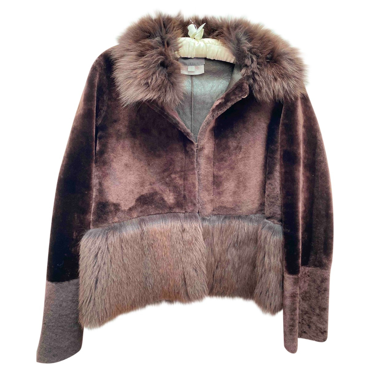 88 & Half N Brown Fur jacket for Women 8 UK