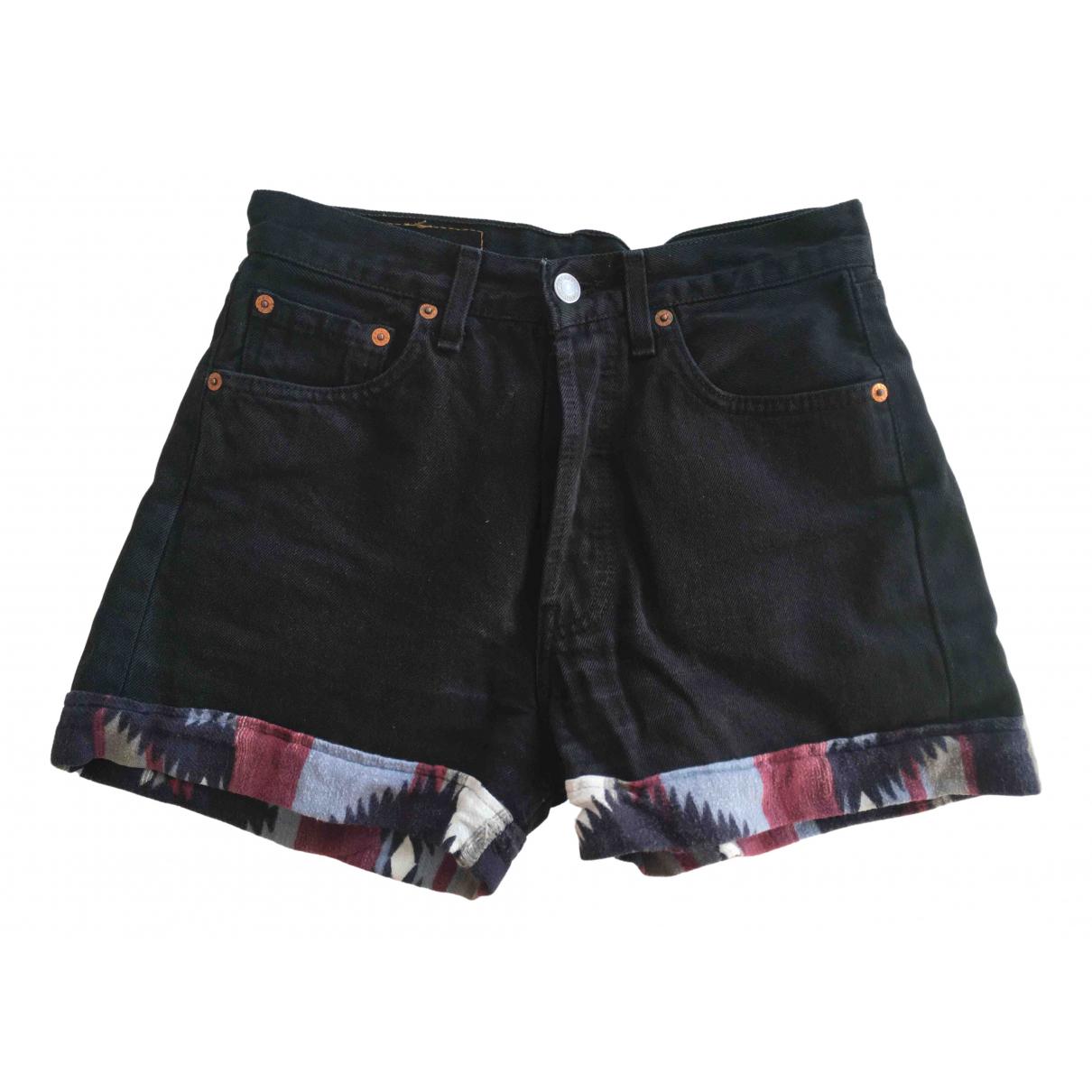 Levi's \N Black Cotton Shorts for Women 34 FR