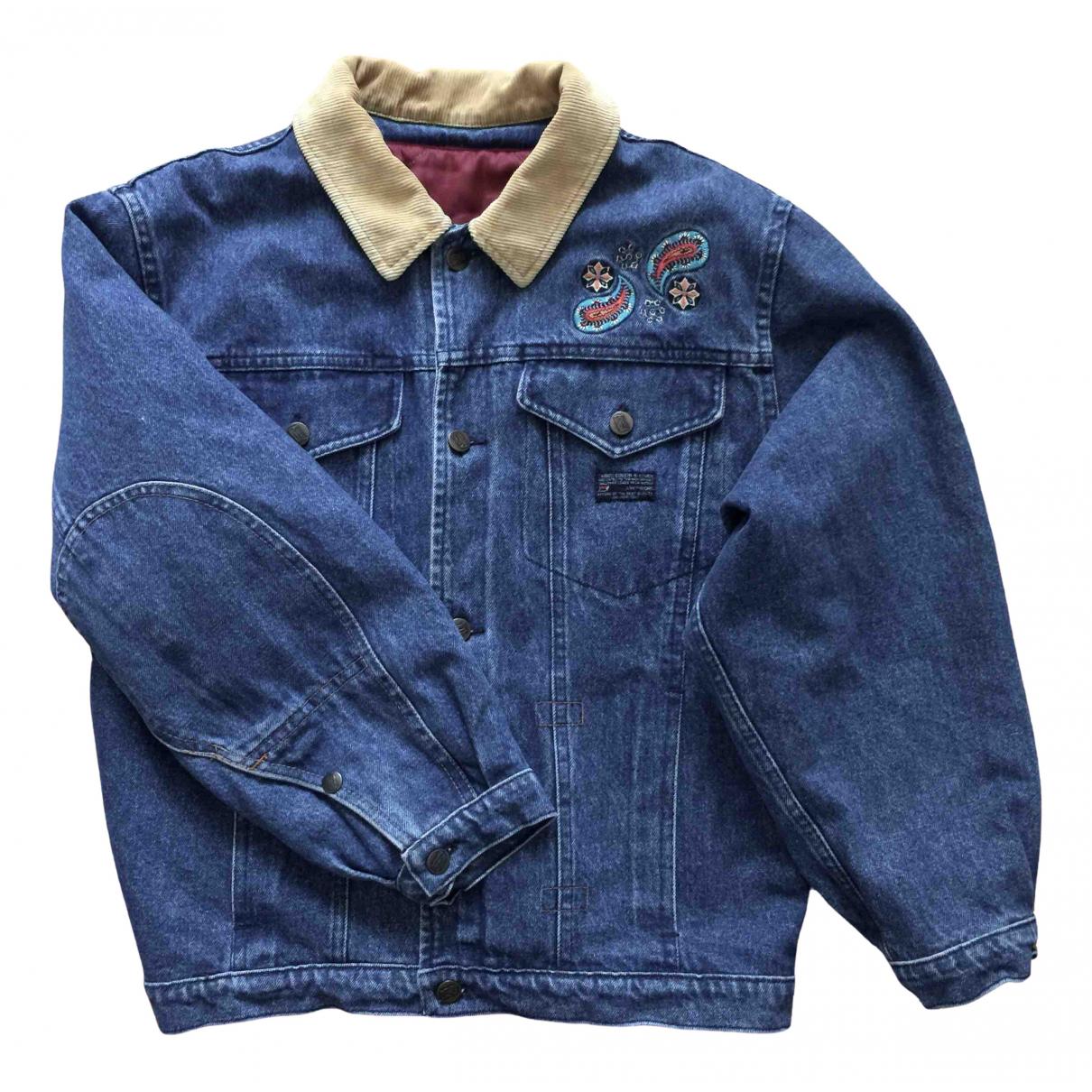Non Signe / Unsigned Oversize Jacke in  Blau Denim - Jeans