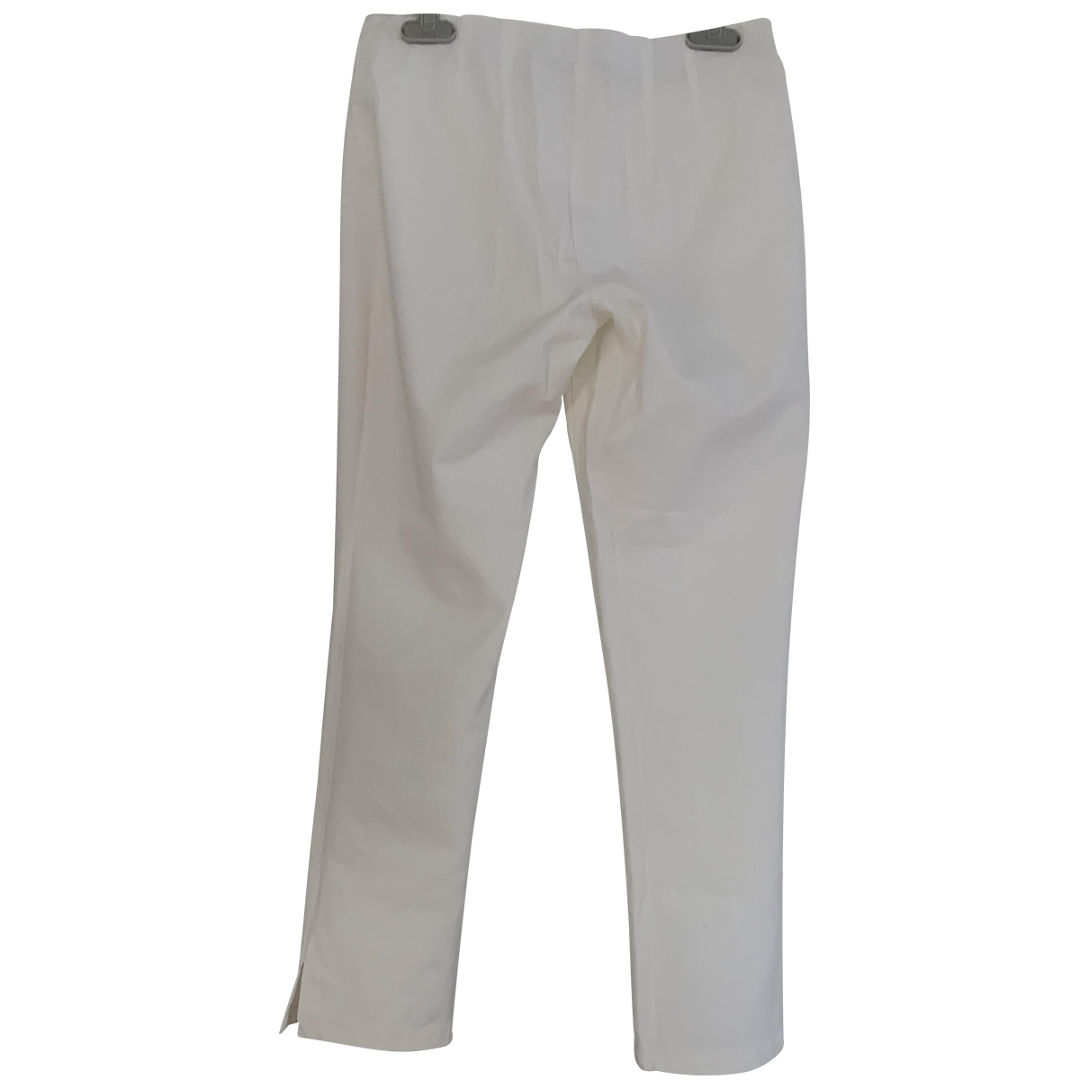 Marc Cain \N White Cotton Trousers for Women 36 FR