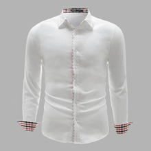 Shirt mit Knopfen vorn und Karo Muster auf Manschetten