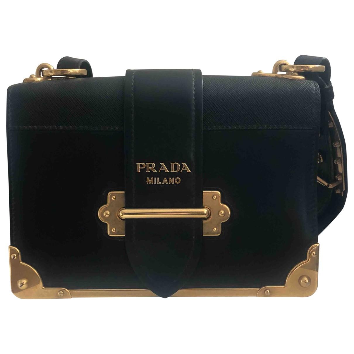 Prada - Sac a main Cahier pour femme en cuir - noir