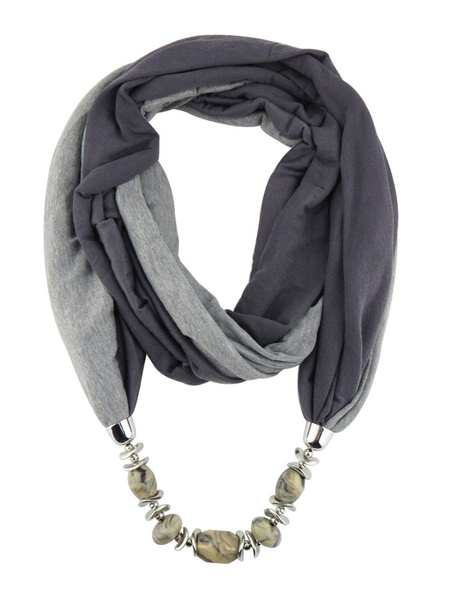 Milanoo Beaded Necklace Scarf Chain Infinity Scarves