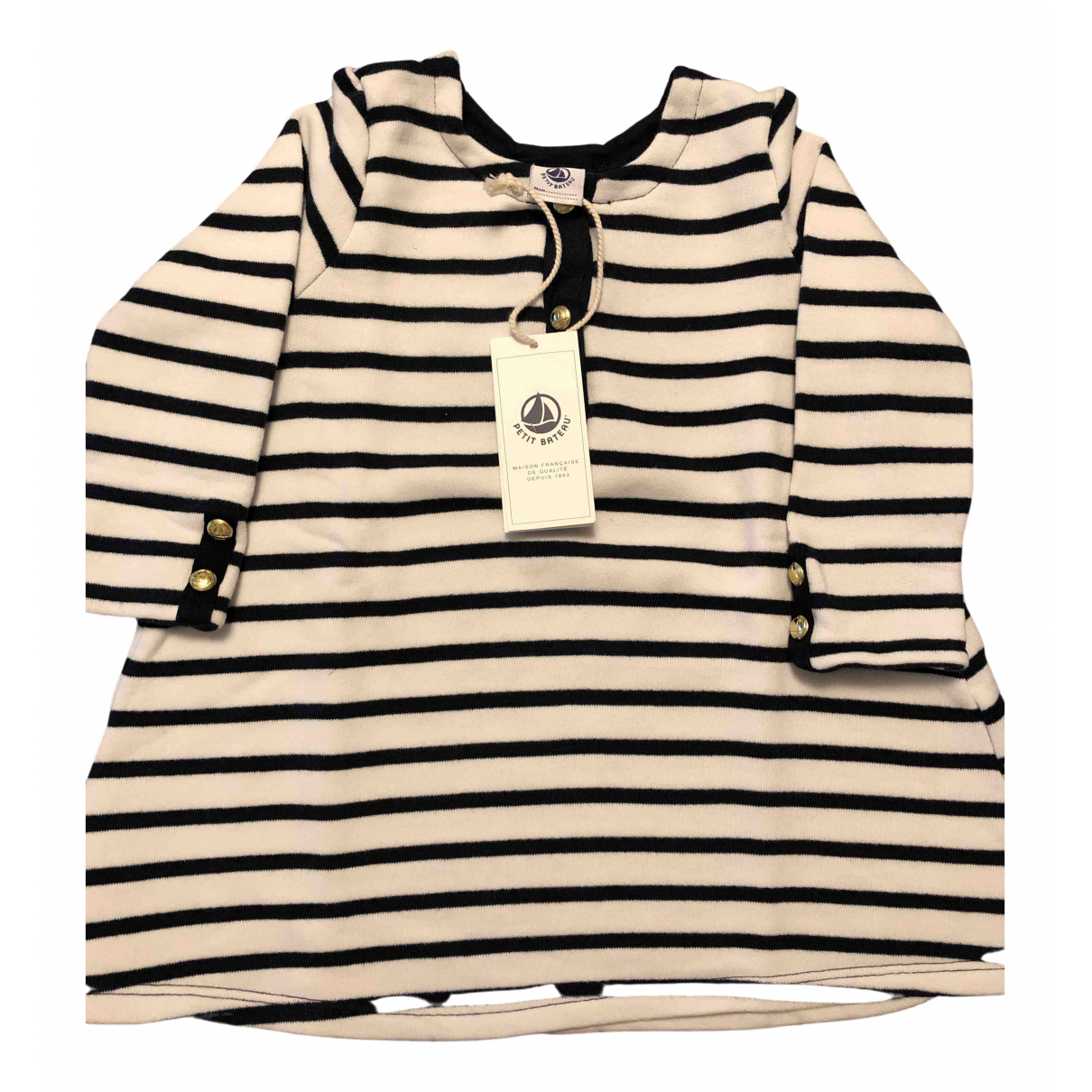 Petit Bateau - Robe    pour enfant en coton - blanc