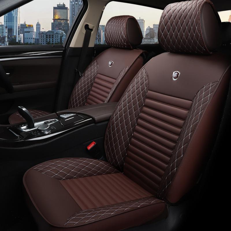 Tasteful Colorful Elegant Shape Plaid Leather Universal Car Seat Cover