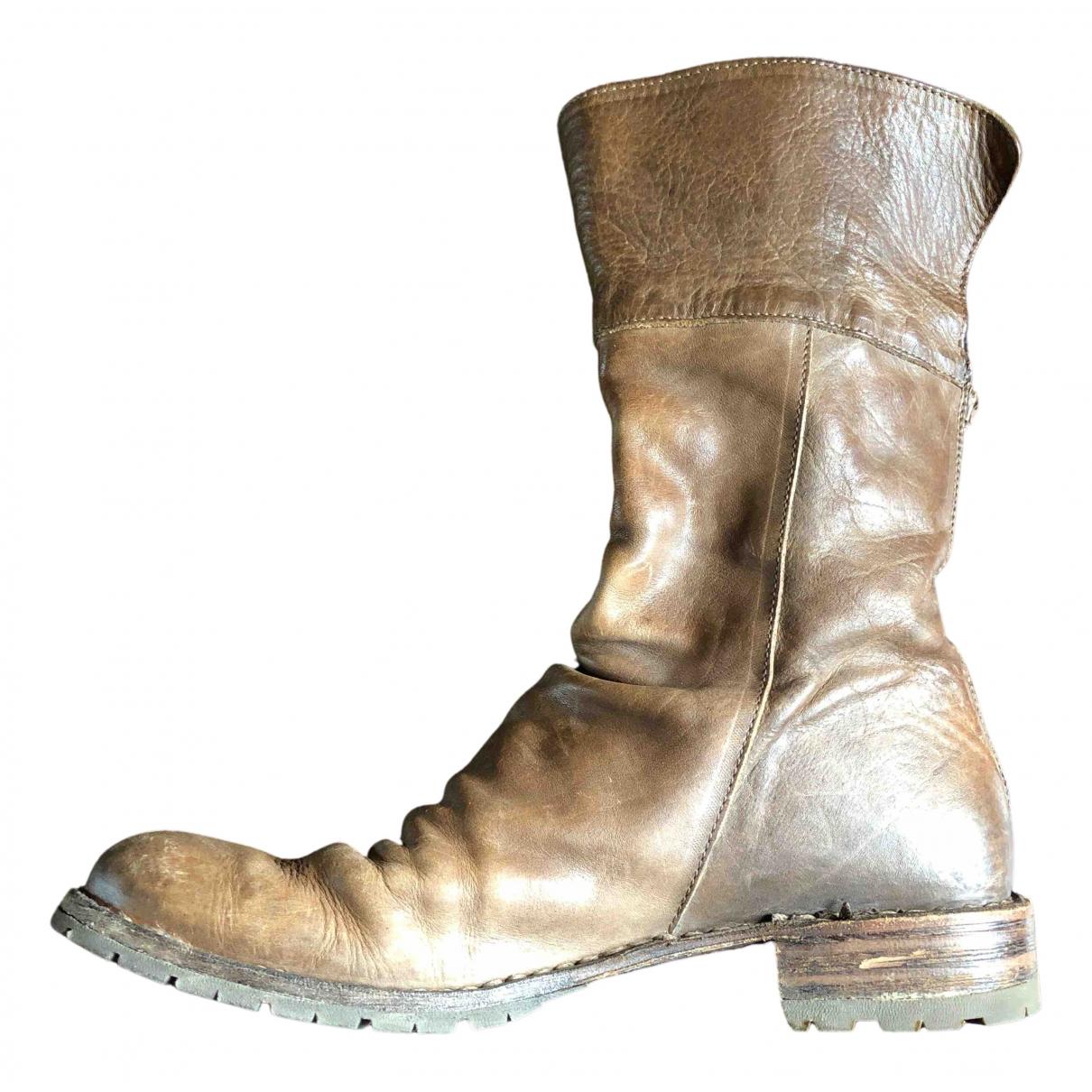 Fiorentini+baker N Khaki Leather Ankle boots for Women 39 EU