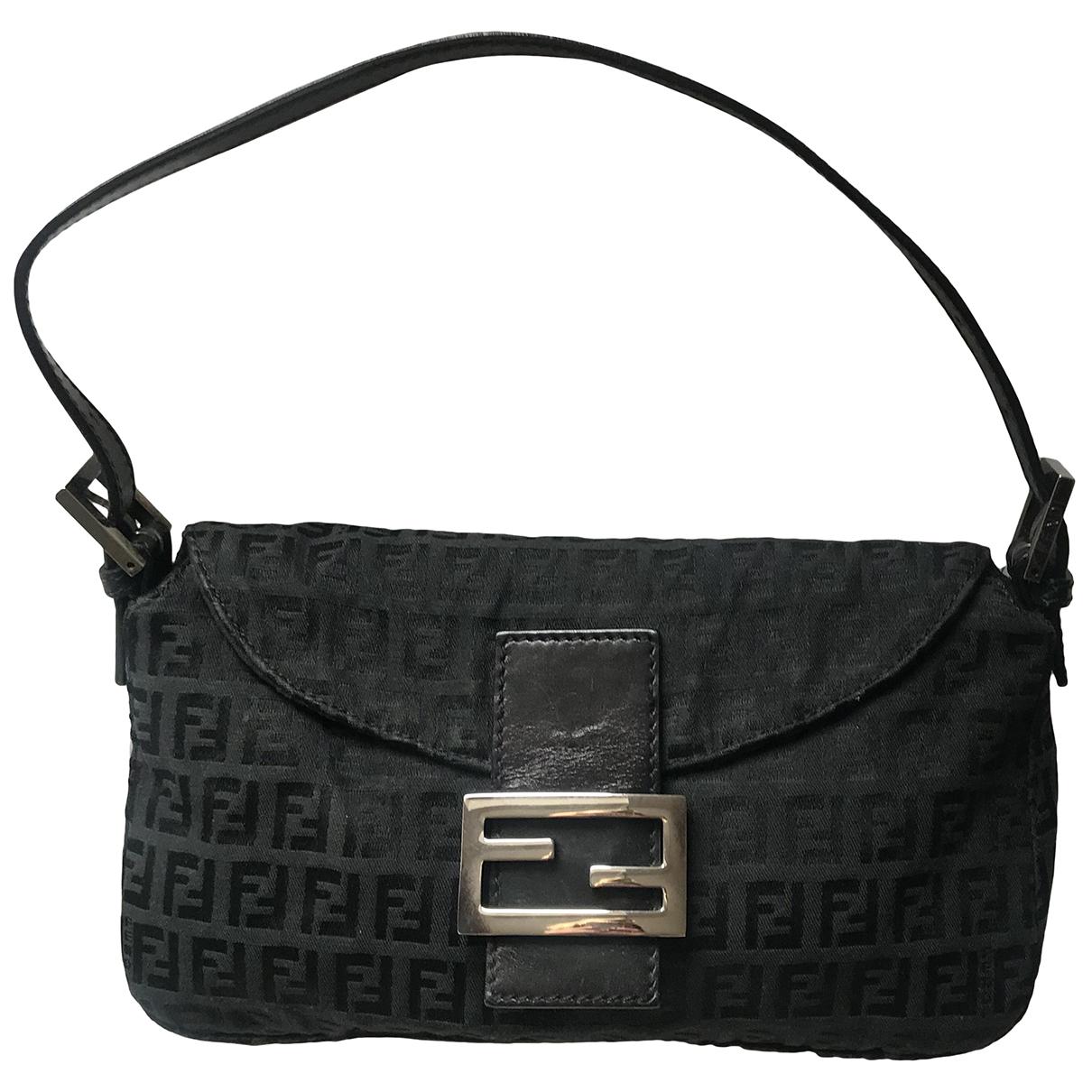 Fendi Baguette Green Cloth handbag for Women N