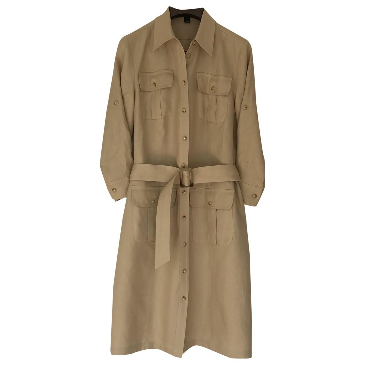 Lauren Ralph Lauren \N Camel Linen dress for Women 10 US