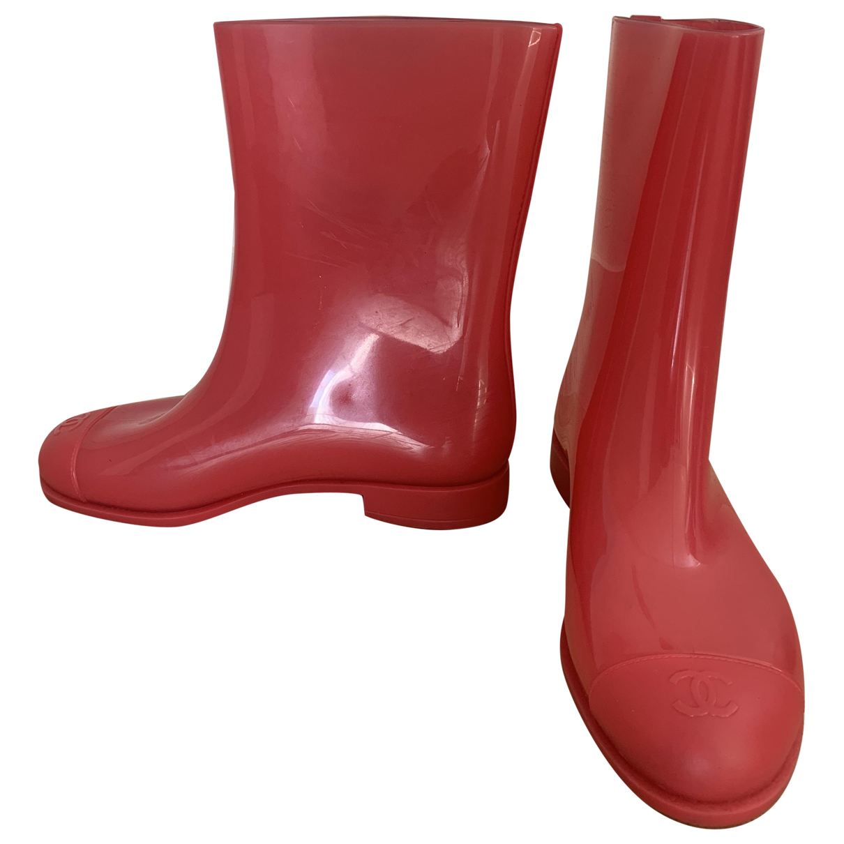 Chanel \N Pink Boots for Women 38 EU