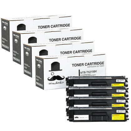 Compatible Brother TN-315 Black Toner Cartridge High Yield - Moustache@ - 4/Pack