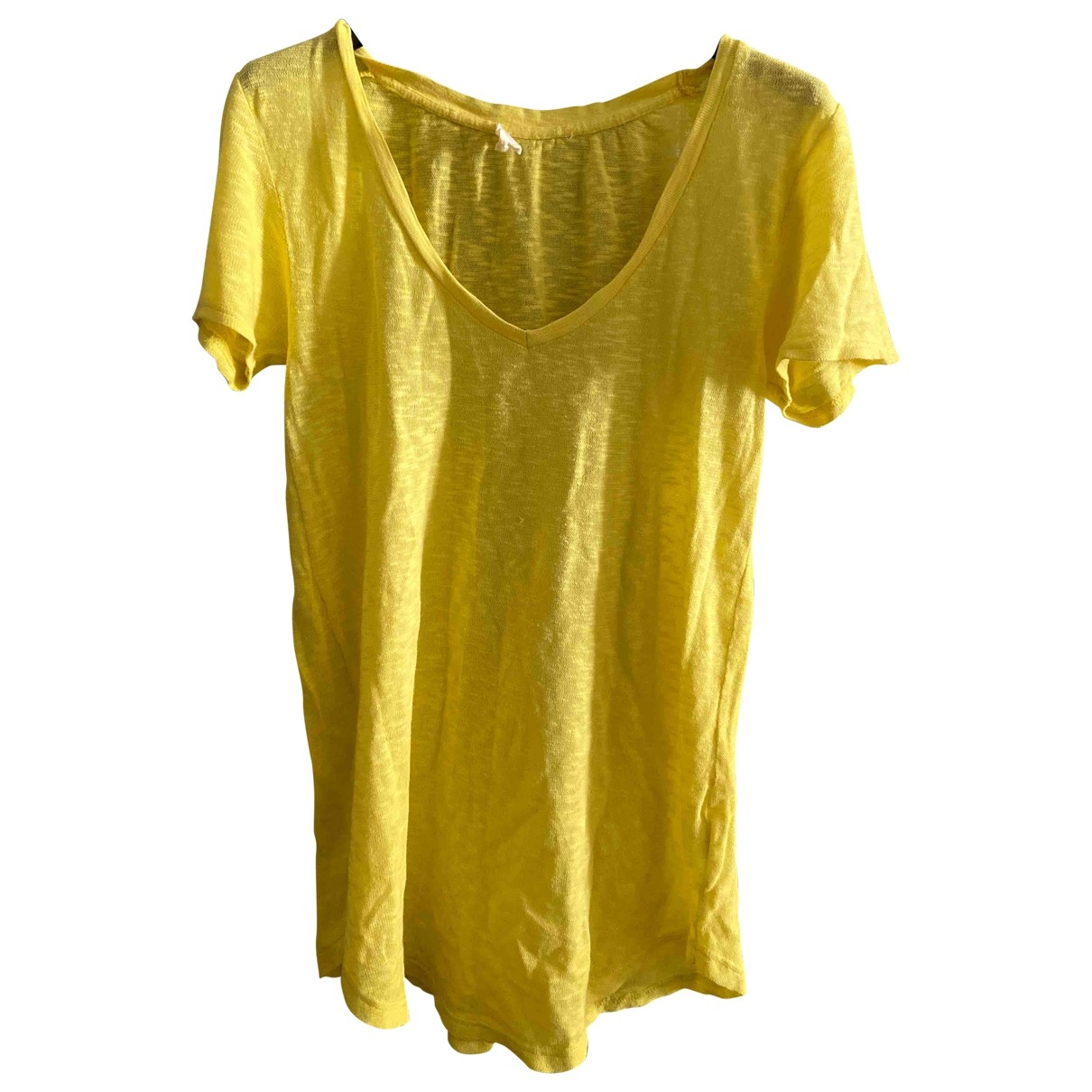 American Vintage \N Yellow Cotton  top for Women S International