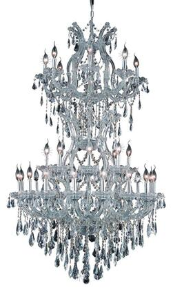 2801D36SC/SS 2801 Maria Theresa Collection Large Hanging Fixture D36in H56in Lt: 32+2 Chrome Finish (Swarovski Strass/Elements
