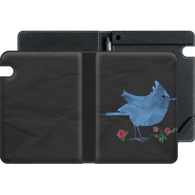 Amazon Kindle Voyage eBook Reader Huelle - Watercolour Bird Black von caseable Designs