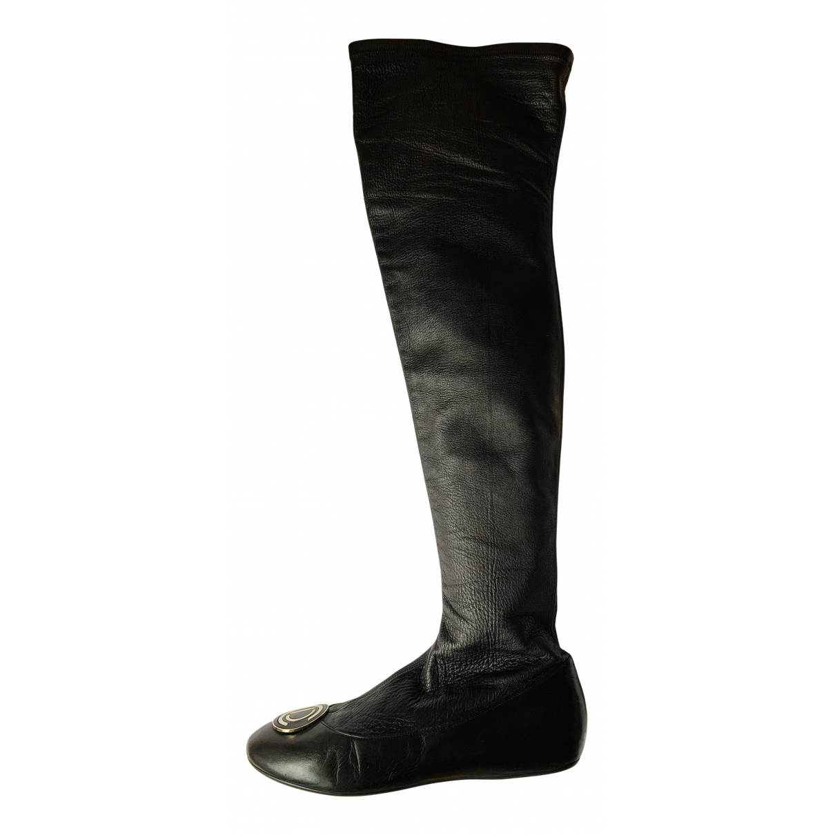 Dior N Black Leather Boots for Women 39 EU