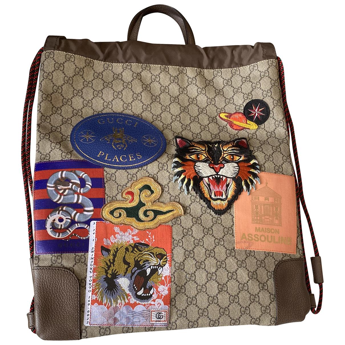 Gucci N Beige Cloth backpack for Women N