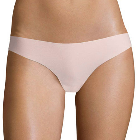 Flirtitude No Show Thong Panties, X-large , Pink