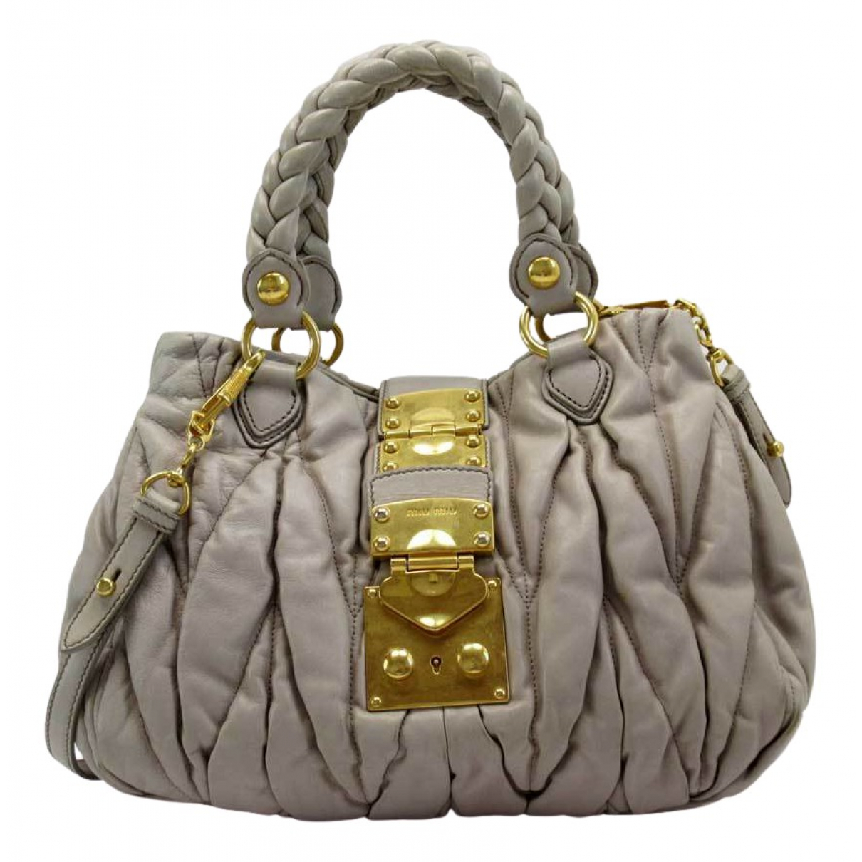 Miu Miu Matelassé Beige Leather handbag for Women \N