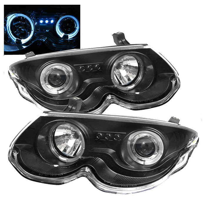 Spyder Auto PRO-YD-CHR300M99-HL-BK Black LED Halo Projector Headlights with High H1 and Low H1 Lights Included Chrysler 300M 99-04