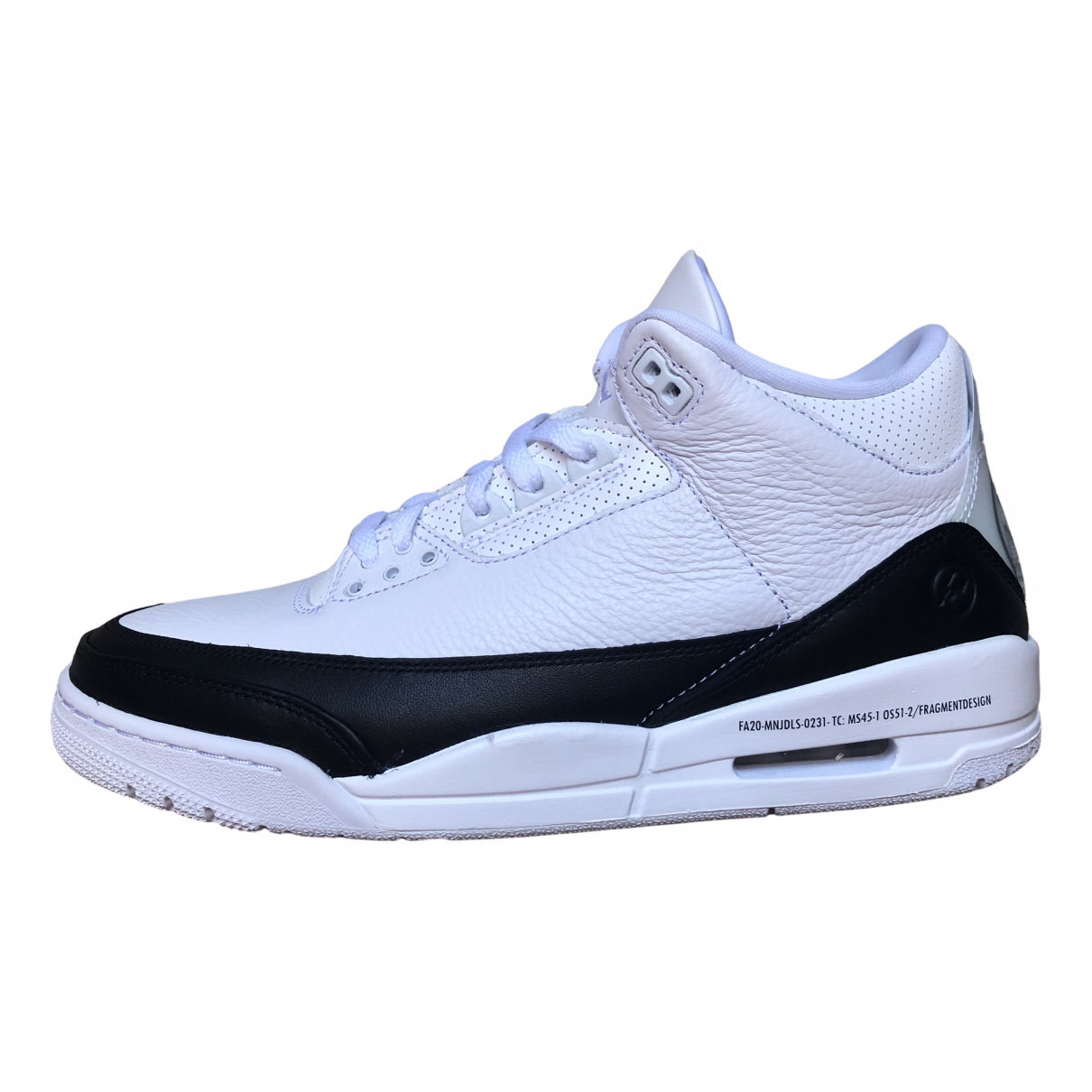 Jordan Air Jordan 3 White Leather Trainers for Men 44.5 EU