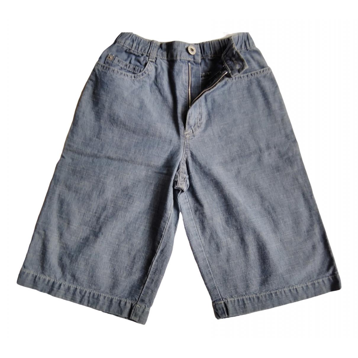 Petit Bateau \N Shorts in  Blau Baumwolle