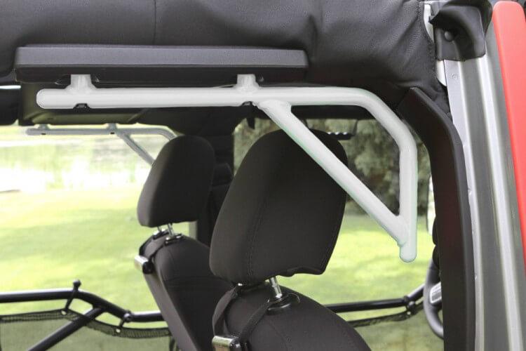 Steinjager J0043593 Grab Handle Kit Wrangler JK 2007-2018 Rigid Design Rear for 4 Door JKU Cloud White