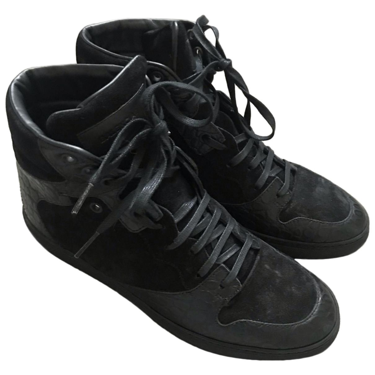 Balenciaga \N Sneakers in  Schwarz Veloursleder