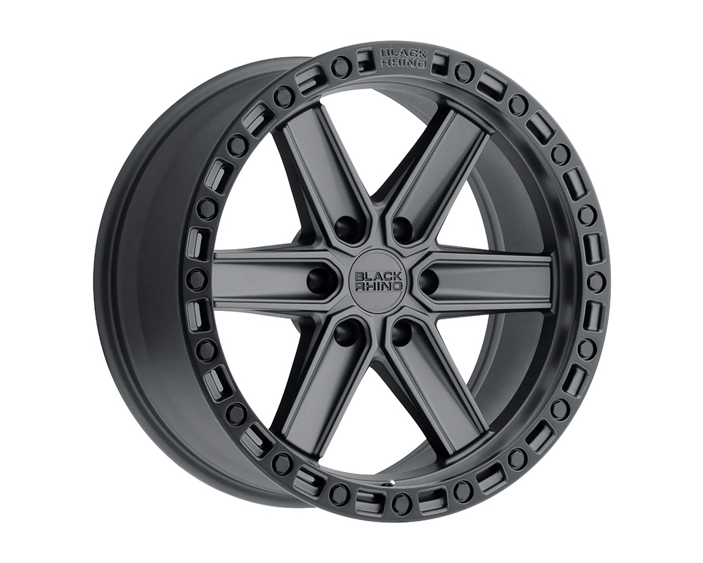 Black Rhino Henderson Wheel 17x9  6x139.7 12mm Gun Black w/Black Lip Edge & Black Bolts