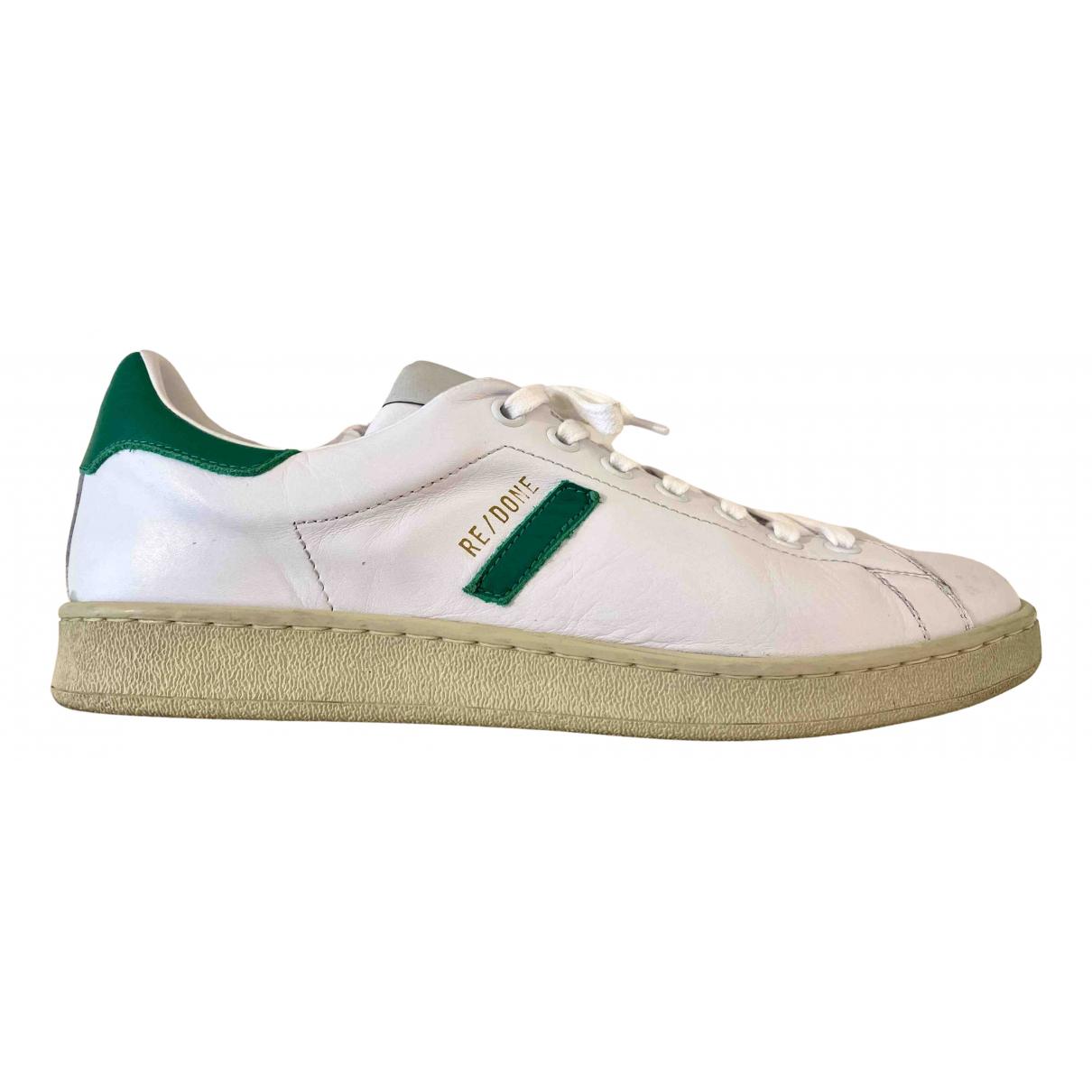 Re/done \N Sneakers in  Weiss Leder