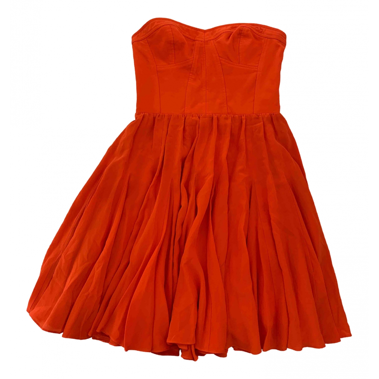 Rebecca Taylor \N Kleid in  Orange Seide