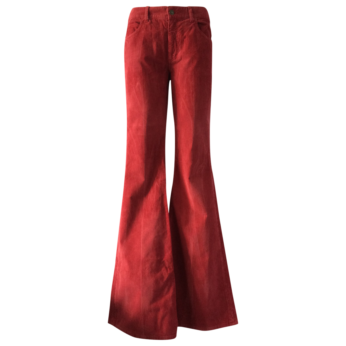 Gucci N Red Cotton Trousers for Women M International