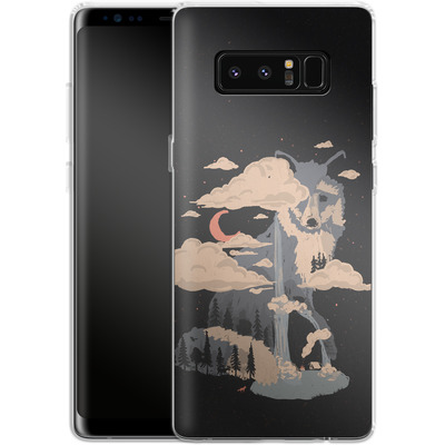 Samsung Galaxy Note 8 Silikon Handyhuelle - At the foot of fox mountain von ND Tank
