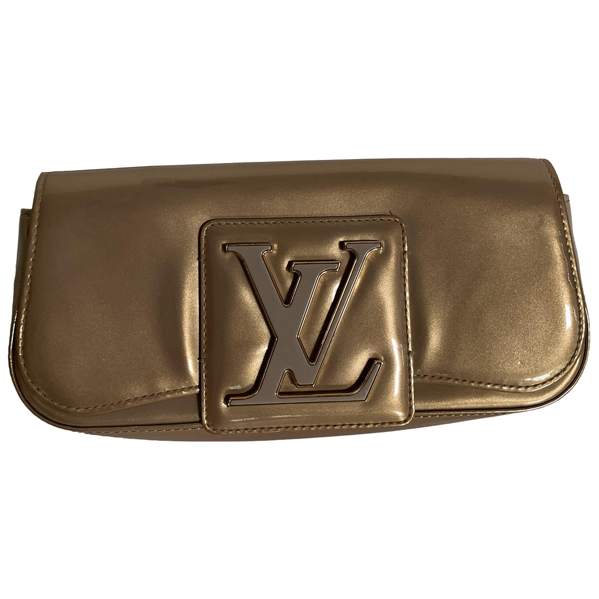 Louis Vuitton Sobe Clutch in  Gold Lackleder