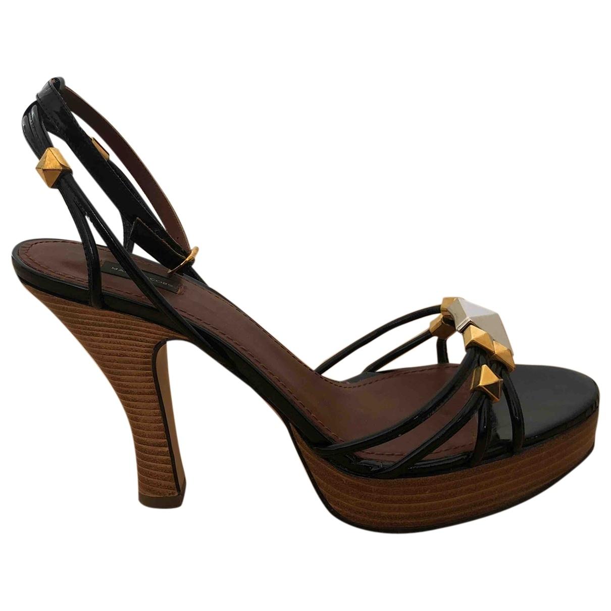 Marc Jacobs - Sandales   pour femme en cuir verni - noir