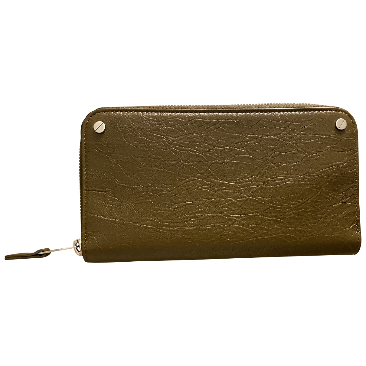Balenciaga \N Khaki Leather wallet for Women \N