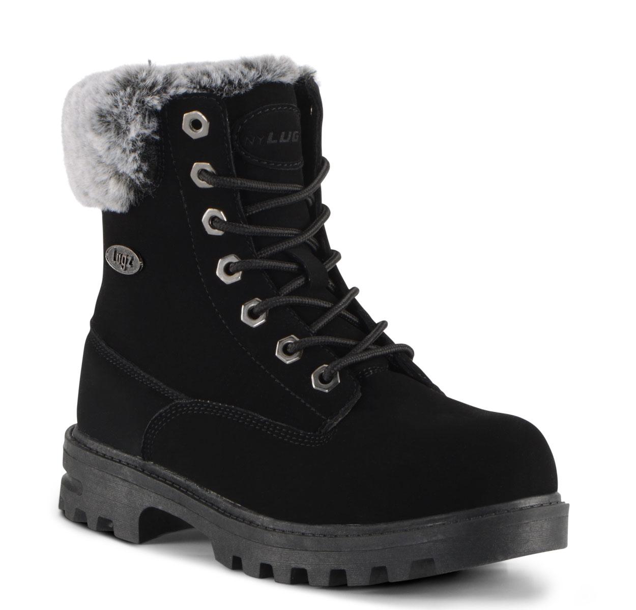 Gradeschool Empire Hi Fur 6-Inch Boot (Choose Your Color: BLACK, Choose Your Size: 5.5)