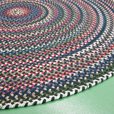 Colonial Mills American Pride Braided Round Reversible Indoor Rugs, One Size , Green