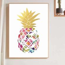 Wandmalerei mit Ananas Muster ohne Rahmen