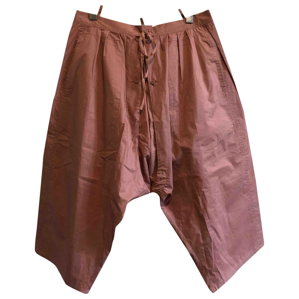 Stella Mccartney \N Pink Silk Trousers for Women 44 IT